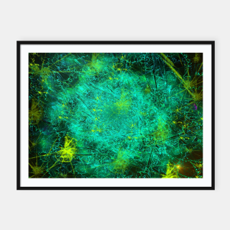Thumbnail image of Fractured Galaxy (abstract, seafoam green) Framed poster, Live Heroes