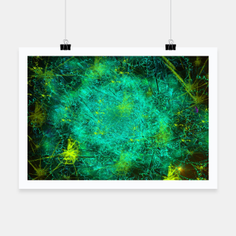 Thumbnail image of Fractured Galaxy (abstract, seafoam green) Poster, Live Heroes