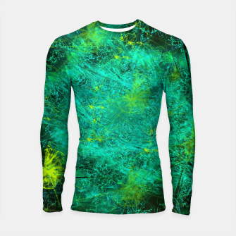 Thumbnail image of Fractured Galaxy (abstract, seafoam green) Longsleeve rashguard , Live Heroes