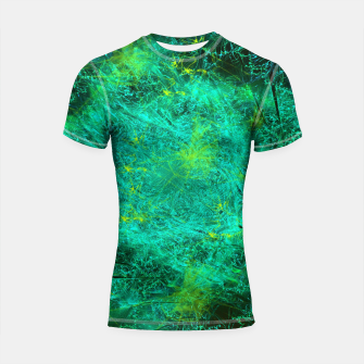 Thumbnail image of Fractured Galaxy (abstract, seafoam green) Shortsleeve rashguard, Live Heroes