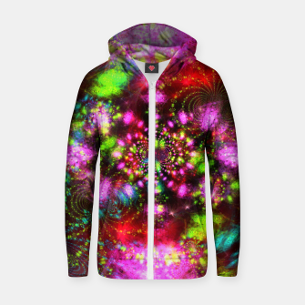Miniaturka Zest Tunnel (abstract, psychedelic design) Cotton zip up hoodie, Live Heroes