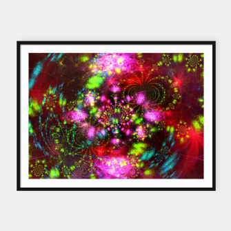 Miniaturka Zest Tunnel (abstract, psychedelic design) Framed poster, Live Heroes