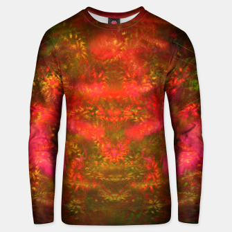 Thumbnail image of Luminous Fireplace (abstract, warm colors, fractal) Cotton sweater, Live Heroes