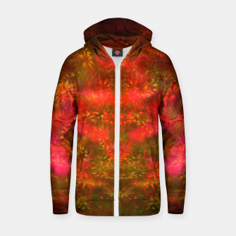 Miniatur Luminous Fireplace (abstract, autumn, fall, warm colors) Cotton zip up hoodie, Live Heroes