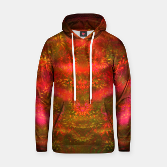 Miniatur Luminous Fireplace (abstract, autumn, fall, warm colors) Cotton hoodie, Live Heroes