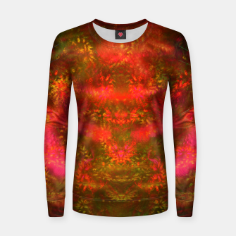 Miniatur Luminous Fireplace (abstract, autumn, fall, warm colors) Woman cotton sweater, Live Heroes