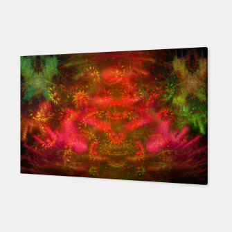 Miniatur Luminous Fireplace (abstract, autumn, fall, warm colors) Canvas, Live Heroes