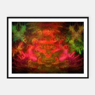 Miniatur Luminous Fireplace (abstract, autumn, fall, warm colors) Framed poster, Live Heroes