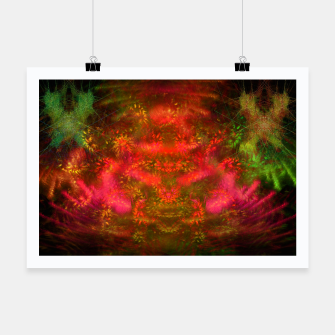 Miniatur Luminous Fireplace (abstract, autumn, fall, warm colors) Poster, Live Heroes