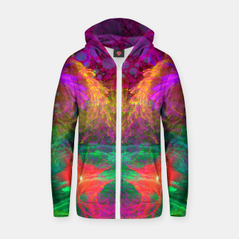 Thumbnail image of Whirlpool Ecstasy (visionary, abstract, psychedelic) Cotton zip up hoodie, Live Heroes