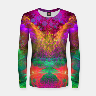 Thumbnail image of Whirlpool Ecstasy (visionary, abstract, psychedelic) Woman cotton sweater, Live Heroes
