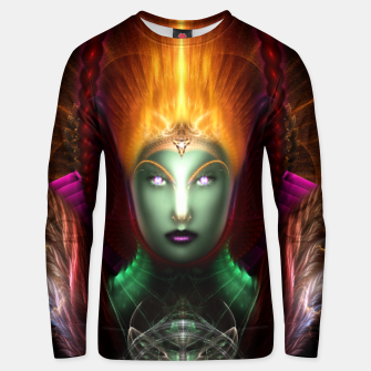 Thumbnail image of Riddian Queen Of Fire Fractal Portrait ZM Cotton sweater, Live Heroes
