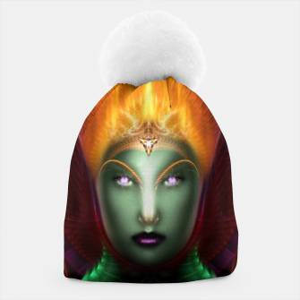 Thumbnail image of Riddian Queen Of Fire Fractal Portrait ZM Beanie, Live Heroes