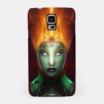 Thumbnail image of Riddian Queen Of Fire Fractal Portrait ZM Samsung Case, Live Heroes