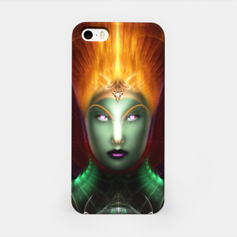 Thumbnail image of Riddian Queen Of Fire Fractal Portrait ZM iPhone Case, Live Heroes