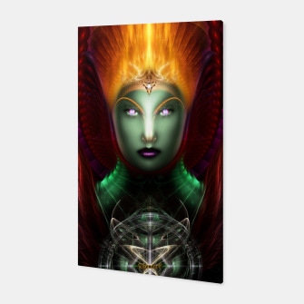 Thumbnail image of Riddian Queen Of Fire Fractal Portrait ZM Canvas Print, Live Heroes
