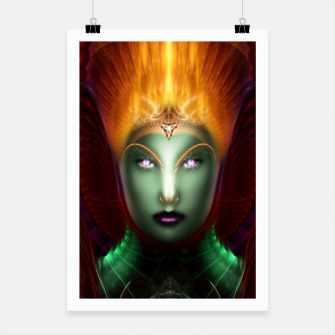 Thumbnail image of Riddian Queen Of Fire Fractal Portrait ZM Poster, Live Heroes
