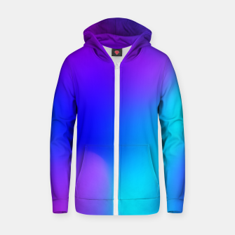 Thumbnail image of Deep blue Cotton zip up hoodie, Live Heroes