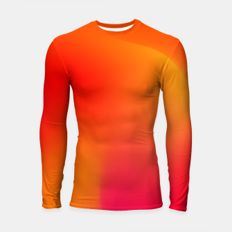 Thumbnail image of Burning red Longsleeve rashguard , Live Heroes