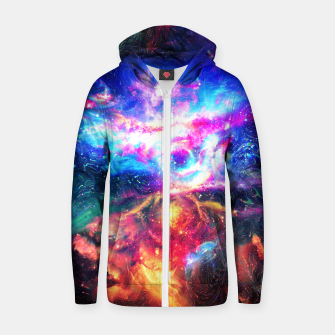 Colorful Galaxy  Cotton zip up hoodie thumbnail image