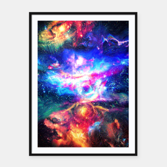 Colorful Galaxy  Framed poster thumbnail image