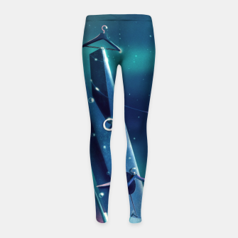 Thumbnail image of Moon Wash Girl's leggings, Live Heroes