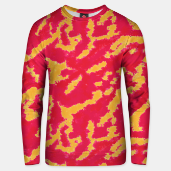 Thumbnail image of Red and Orange Abstract Pattern Cotton sweater, Live Heroes