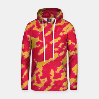 Thumbnail image of Red and Orange Abstract Pattern Cotton hoodie, Live Heroes