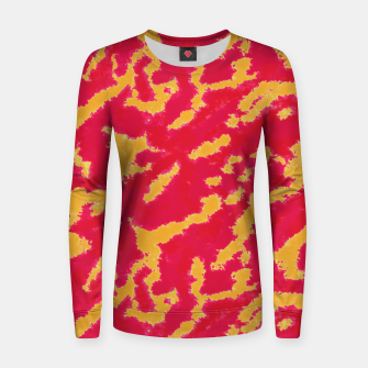 Thumbnail image of Red and Orange Abstract Pattern Woman cotton sweater, Live Heroes