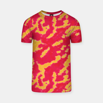 Thumbnail image of Red and Orange Abstract Pattern T-shirt, Live Heroes
