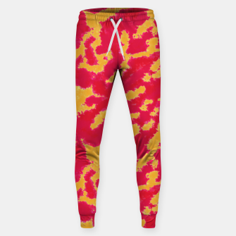 Thumbnail image of Red and Orange Abstract Pattern Cotton sweatpants, Live Heroes