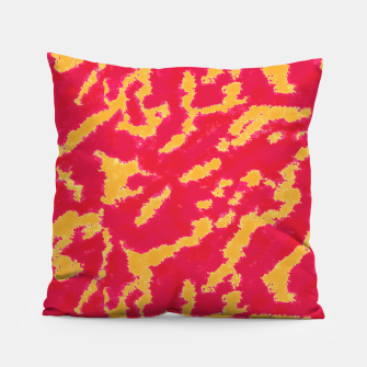 Thumbnail image of Red and Orange Abstract Pattern Pillow, Live Heroes