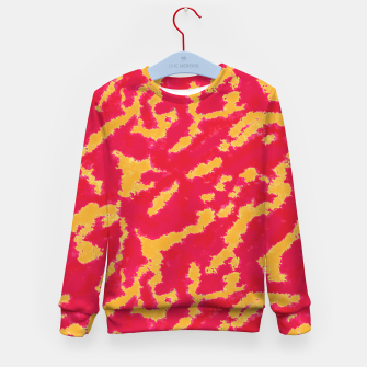 Thumbnail image of Red and Orange Abstract Pattern Kid's sweater, Live Heroes