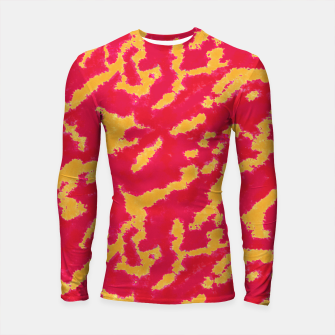 Thumbnail image of Red and Orange Abstract Pattern Longsleeve rashguard , Live Heroes