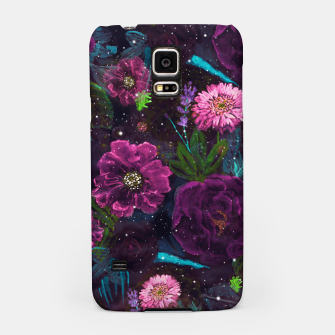 Miniatur Whimsical Watercolor night garden floral hand paint  Samsung Case, Live Heroes