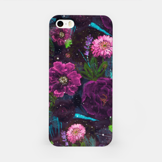 Miniatur Whimsical Watercolor night garden floral hand paint  iPhone Case, Live Heroes