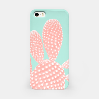 Thumbnail image of Apricot Blush Cactus on Mint Summer Dream #1 #plant #decor #art iPhone-Hülle, Live Heroes