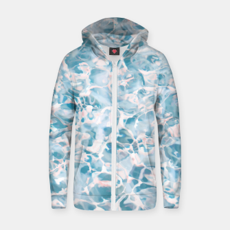 Thumbnail image of Marbled Water Nature Abstract |  Cotton zip up hoodie, Live Heroes