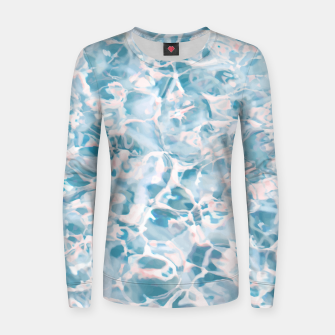 Thumbnail image of Marbled Water Nature Abstract |  Woman cotton sweater, Live Heroes