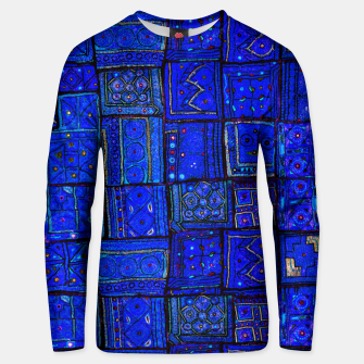 Thumbnail image of Lovely Calm Blue Traditional Moroccan Pattern Artwork   Cotton sweater, Live Heroes