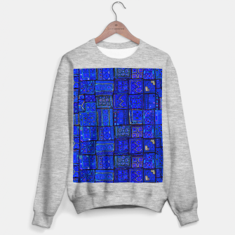 Thumbnail image of Lovely Calm Blue Traditional Moroccan Pattern Artwork   Sweater regular, Live Heroes