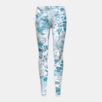 Thumbnail image of Marbled Water Nature Abstract |  Girl's leggings, Live Heroes
