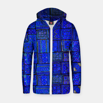 Thumbnail image of Lovely Calm Blue Traditional Moroccan Pattern Artwork   Cotton zip up hoodie, Live Heroes
