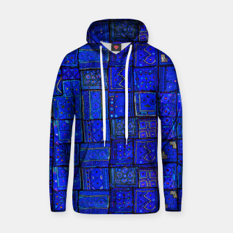 Thumbnail image of Lovely Calm Blue Traditional Moroccan Pattern Artwork   Cotton hoodie, Live Heroes