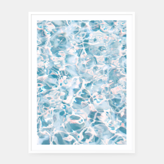 Thumbnail image of Marbled Water Nature Abstract |  White Framed Poster, Live Heroes