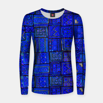 Thumbnail image of Lovely Calm Blue Traditional Moroccan Pattern Artwork   Woman cotton sweater, Live Heroes
