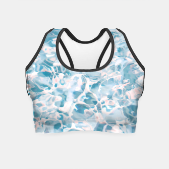 Thumbnail image of Marbled Water Nature Abstract |  Crop Top, Live Heroes
