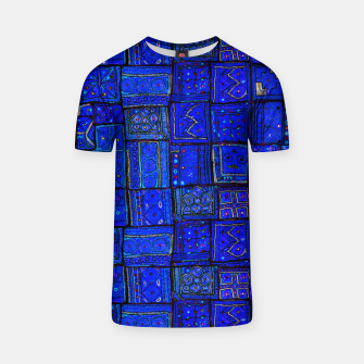 Thumbnail image of Lovely Calm Blue Traditional Moroccan Pattern Artwork   T-shirt, Live Heroes