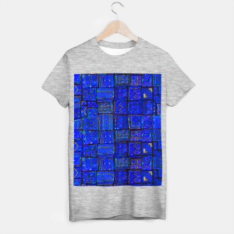 Thumbnail image of Lovely Calm Blue Traditional Moroccan Pattern Artwork   T-shirt regular, Live Heroes