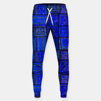 Thumbnail image of Lovely Calm Blue Traditional Moroccan Pattern Artwork   Cotton sweatpants, Live Heroes